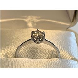 Ladies 10K white gold, .50 carat solitaire diamond ring appraised $3800.00