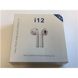 NEW i12 True Blue tooth ear pods wireless with charging case