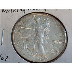 USA Walking Liberty 1989 1 OUNCE FINE SILVER Dollar