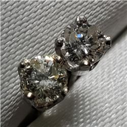14K White Gold Diamond(0.3ct) Earrings, Made in Canada (Estimated Selling Price from $210 to $420)