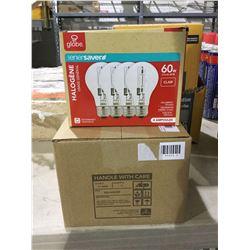 Case of 3 Globe Halogen 60W Bulbs 4-Pack