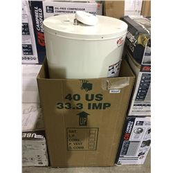 Best Canadian Water Heater - Gas Water Heater 40 Gal - 34 000 BTU - White - Model: GG40-34L-FN2U