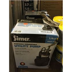 Simer1/6 HP Portable Submersible Utility Pump