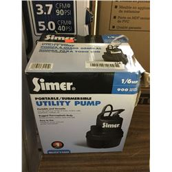 Simer 1/6 HP Portable Submersible Utility Pump
