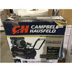 NEW IN BOX Campbell Hausfeld 8 Gal. Quiet Compressor