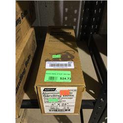 "Case of Norton Aluminum Sanding Belts 4"" x 24"" (5ct)"