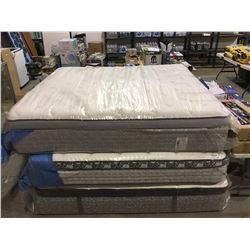 Pillow Top King Size Mattress floor display model ( in plastic)