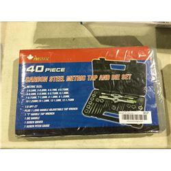 Prograde40-Piece Carbon Steel Metric Tap and Die Set