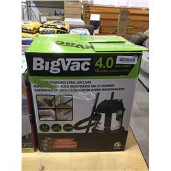 Big Vac 4.0 Wet/Dry 15L Stainless Steel Vacuum