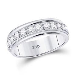 Diamond Single Row Band Ring 1/2 Cttw 10kt White Gold