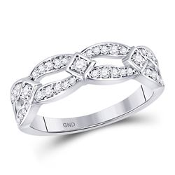 Diamond Fashion Band Ring 1/3 Cttw 10kt White Gold