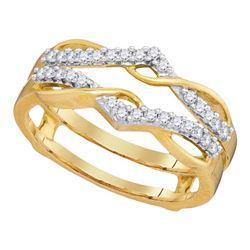 Diamond Wrap Ring Guard Enhancer Wedding Band 1/4 Cttw 10kt Yellow Gold