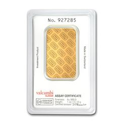 Genuine 1 oz 0.9999 Fine Gold Bar - Credit Suisse
