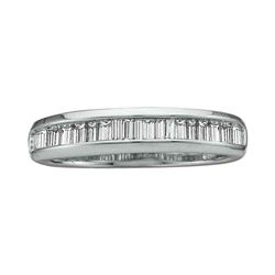 Baguette Diamond Wedding Anniversary Band 1/2 Cttw 14kt White Gold