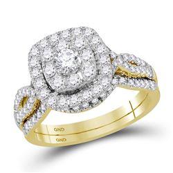 Diamond Bridal Wedding Engagement Ring Band Set 1.00 Cttw 14kt Yellow Gold