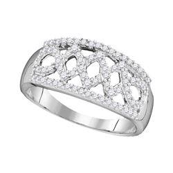 Diamond Fashion Ring 1/3 Cttw 10kt White Gold