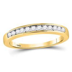 Round Channel-set Diamond Single Row Wedding Band 1/4 Cttw 14kt Yellow Gold