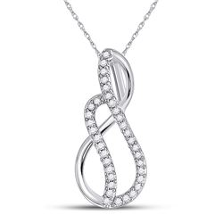 Diamond Infinity Pendant 1/10 Cttw 10kt White Gold