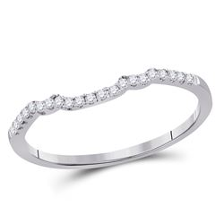 Diamond Band Ring Guard Enhancer 1/10 Cttw 14kt White Gold