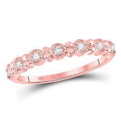 Diamond Stackable Band Ring 1/10 Cttw 10kt Rose Gold