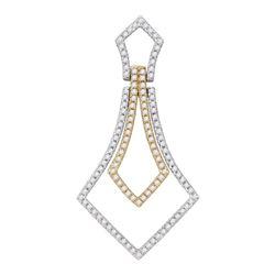 Diamond 2-tone Pendant 3/8 Cttw 14kt Two-tone Gold