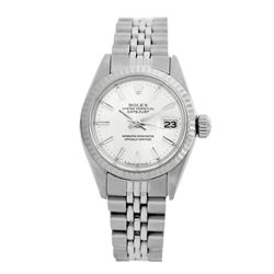 Rolex Pre-owned 26mm Womens Original Rolex Silver Dial Stainless Steel - REF-360X2K