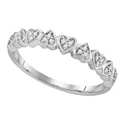 Diamond Heart Ring 1/10 Cttw 10kt White Gold