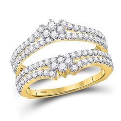 Diamond Wrap Ring Guard Enhancer 7/8 Cttw 14kt Yellow Gold