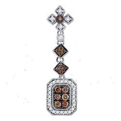 Round Brown Diamond Fashion Pendant 1/2 Cttw 14kt Yellow Gold