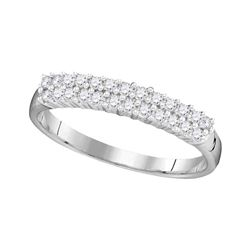 Diamond Double Row Band 1/3 Cttw 10kt White Gold
