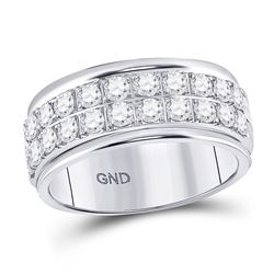 Diamond Double Row Band Ring 1/2 Cttw 10kt White Gold