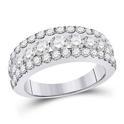 Diamond Anniversary Band Ring 2.00 Cttw 14kt White Gold