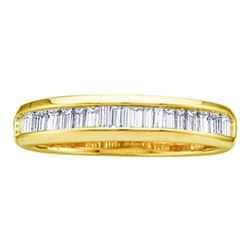Baguette Diamond Wedding Anniversary Band 1/6 Cttw 10kt Yellow Gold