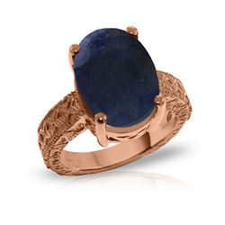 Genuine 8.5 ctw Sapphire Ring 14KT Rose Gold - REF-168W3Y