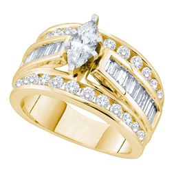 Marquise Diamond Solitaire Bridal Wedding Engagement Ring 1.00 Cttw 14kt Yellow Gold