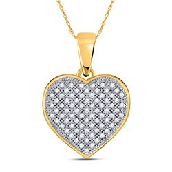 Diamond Heart Pendant 1/4 Cttw 10kt Yellow Gold
