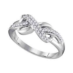 Diamond Infinity Ring 1/5 Cttw 10kt White Gold