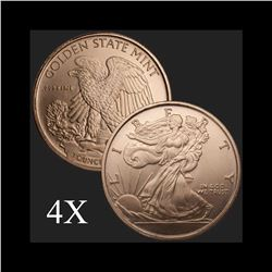 1 oz Walking Liberty .999 Fine Copper Bullion Round