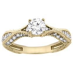 0.75 CTW Diamond Ring 14K Yellow Gold - REF-169X3M
