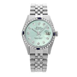 Rolex Pre-owned 36mm Mens Ice Blue Dial Stainless Steel - REF-580R2M