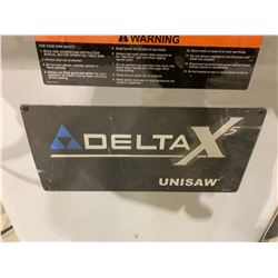 "DELTA X UNISAW 10"" TILTING ARBOR TABLE SAW WITH BIESEMEYER GUARD"