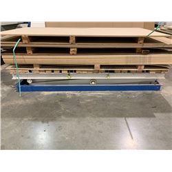 "48""X96"" GREY/BLUE INDUSTRIAL ELECTRIC SCISSOR LIFT TABLE"