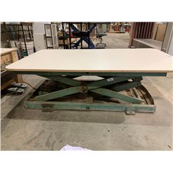 """42""""X72"""" GREEN PNEUMATIC INDUSTRIAL SCISSOR LIFT TABLE WITH FOOT CONTROL"""