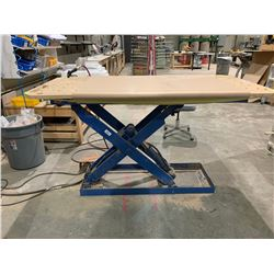 "36""X72"" BLUE PNEUMATIC INDUSTRIAL SCISSOR LIFT TABLE WITH FOOT CONTROL"