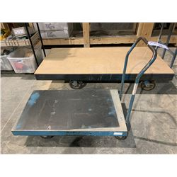 SMALL BLUE INDUSTRIAL SHOP CART