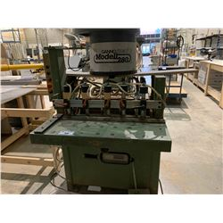 GANNOMAT MODELL 280 6 HEAD, 5 CLAMP DRILL & DOWEL INSERTER MACHINE