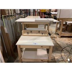 WHITE 2 TIER WOODEN JIG TABLE