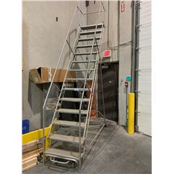 GREY 14' MOBILE WAREHOUSE STAIRS