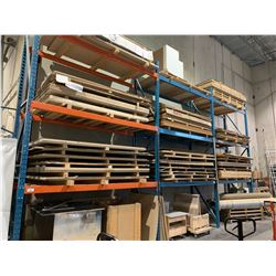 3 BAY PALLET RACKING SYSTEM WITH 4 UPRIGHTS & 18 CROSSBARS APPROX 20FT