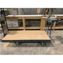 LARGE BLUE INDUSTRIAL SHOP CART